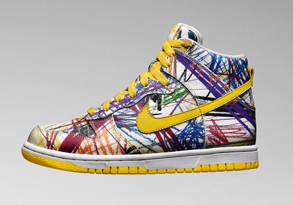nike dunk high premium gs scribble sneakernews com rh sneakernews com