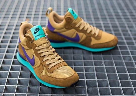 Nike Women's Internationalist Mid – Umber – Court Purple – Hyper Jade