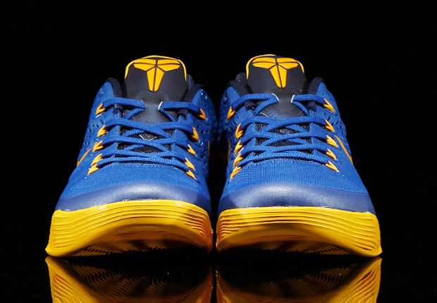 buy popular 1e232 63bbc ... Nike Kobe 9 EM Color Gym BlueUniversity Gold-Obsidian Style Code 646701- 474. ...