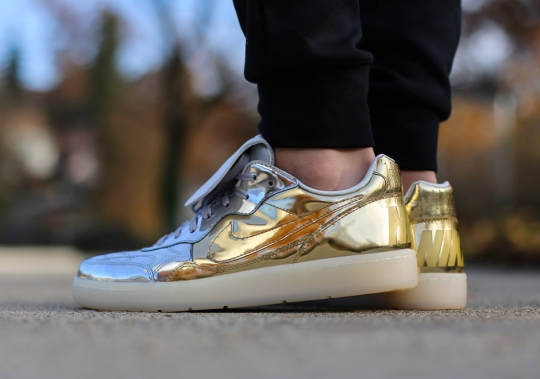 Nike Sportswear Combines Liquid Metal Gold and Silver Onto One Sneaker