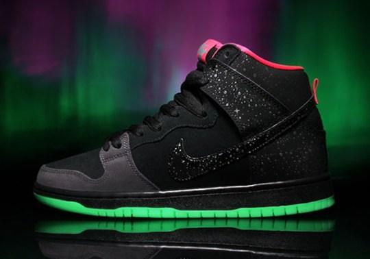 """Premier x Nike SB Dunk High """"Northern Lights"""" – Release Reminder"""