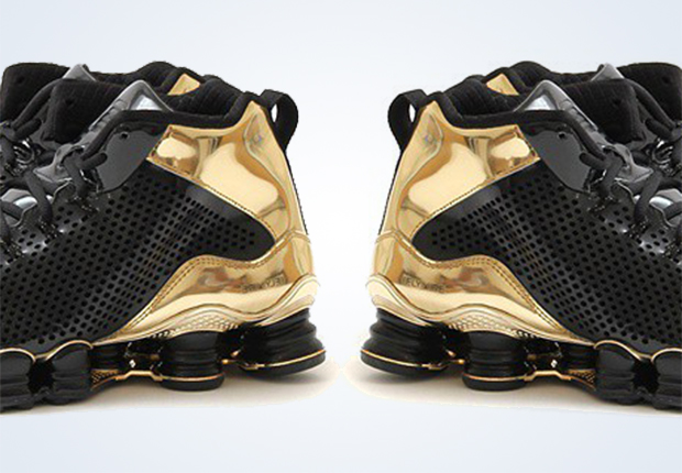 check out 81432 8d428 Nike Shox TLX Mid SP - Black - Metallic Gold - SneakerNews.com