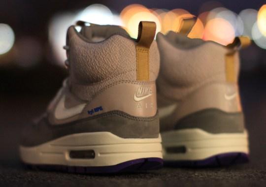 Nike Women's Air Max 1 Sneakerboot – Pewter – Violet