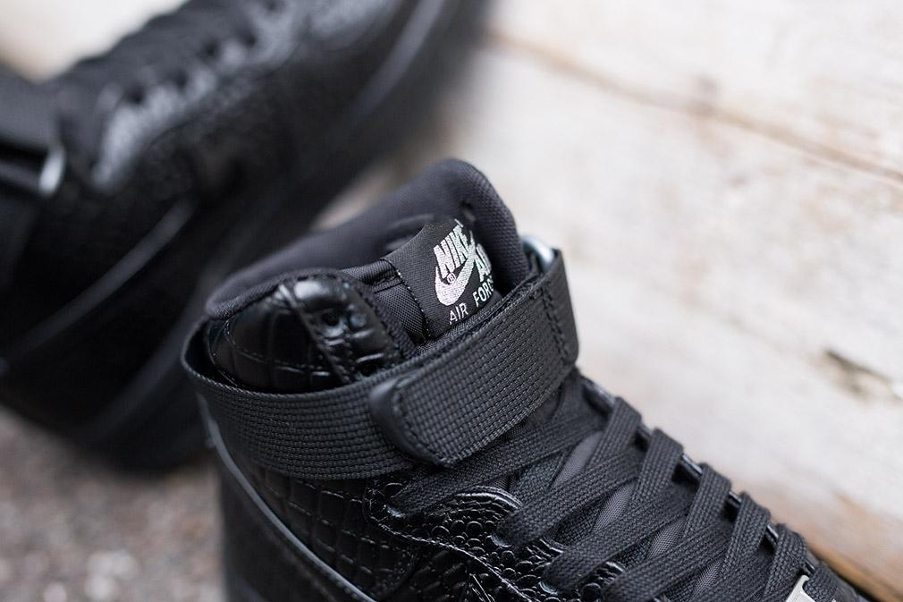 Nike Air Force 1 Hautes Femmes Noir