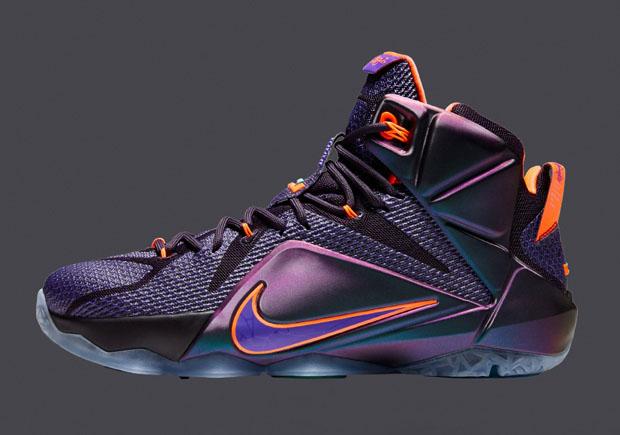 "700ab95962da Nike LeBron 12 ""Instinct"" Color  Violet Force Hyper Crimson-Black Style  Code  684593-583. Release Date  11 22 14. Price   200"
