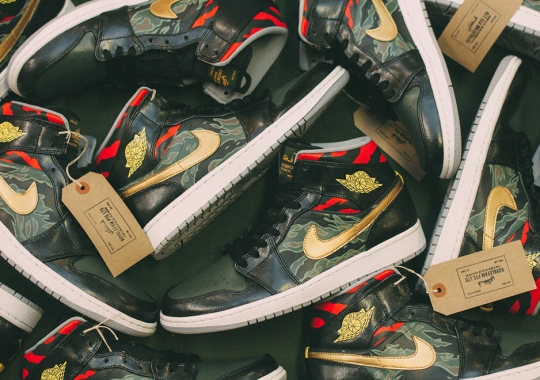 Air Jordan 1 Mid Customs by SBTG for Sole DXB