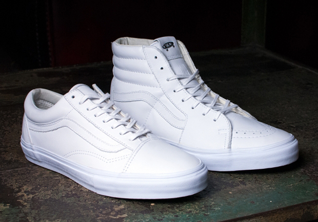 98029a3fad Vans Goes All White On The Sk8-Hi and Old Skool For November ...