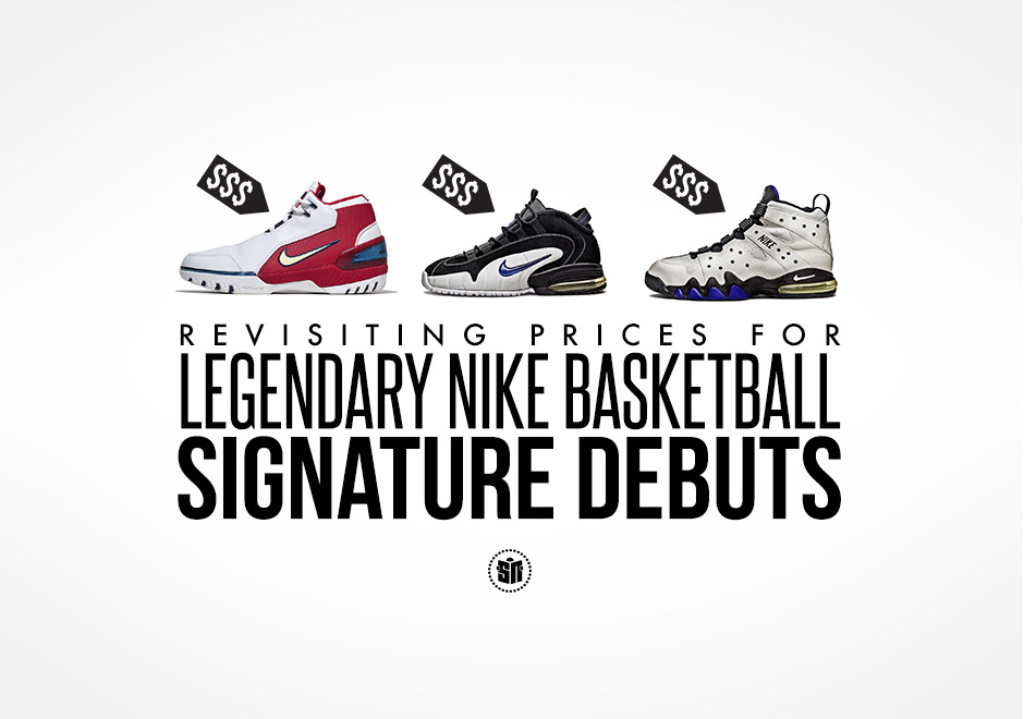 dc9a80f4f9a2 Revisiting Prices for Legendary Nike Basketball Signature Debuts ...