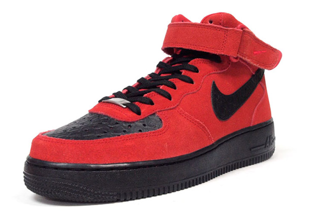Nike Air Force 1 Black And Red