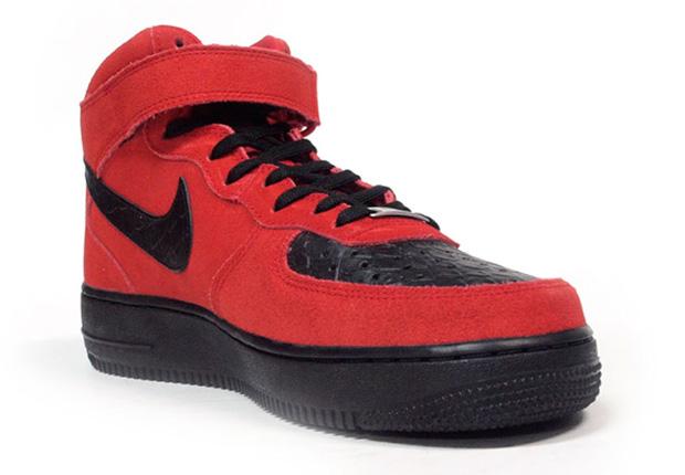 Nike Air Force 1 Mid Python Suédé