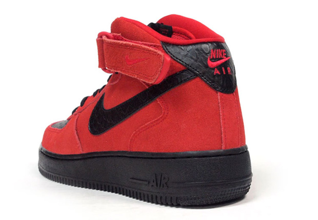 Red Suede Black
