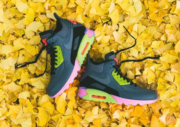 buy popular 3616b 3deb0 Nike Air Max 90 Sneakerboot ICE - Grey - Hyper Punch - Available ...