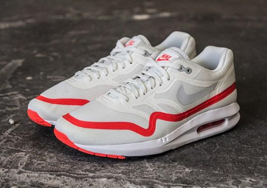 Nike Air Max Lunar1 – White – Mist Grey – Bright Crimson