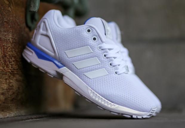 cfa5068ba5fb4 adidas ZX Flux - Flat White - Bluebird - SneakerNews.com