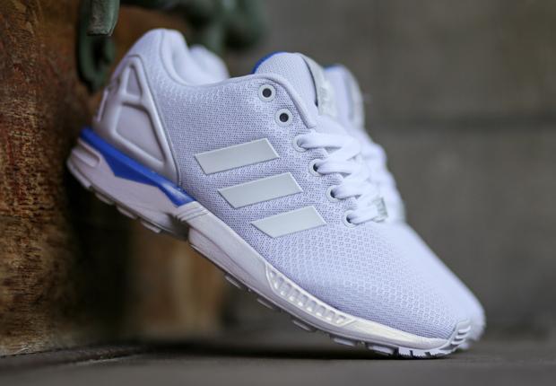 white adidas zx flux