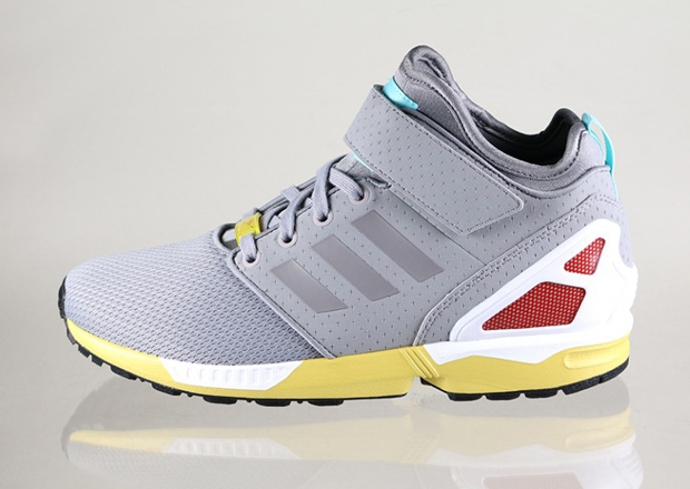 Mens adidas ZX Flux Slip On Granite Trainers