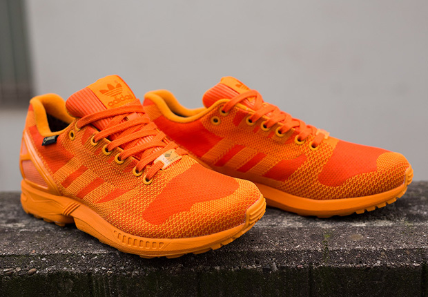 "buy popular 9d392 cd13f The ZX Flux Weave Gore-Tex ""Orange"" is arriving now at select European  adidas Originals retailers, including Suppa."
