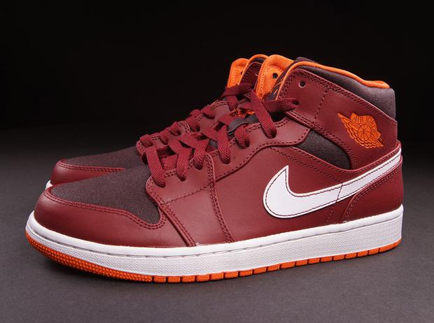 Air Jordan 1 Équipe Mi Orange Rouge Électrique