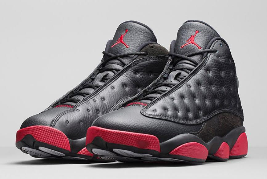 Gymnase Noir Air Jordan Rouge 13