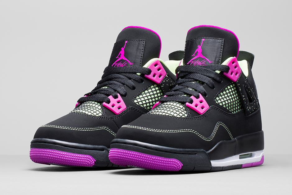 Nike Air Jordan Filles Fuchsia Flash / Lod Lime / Blanc