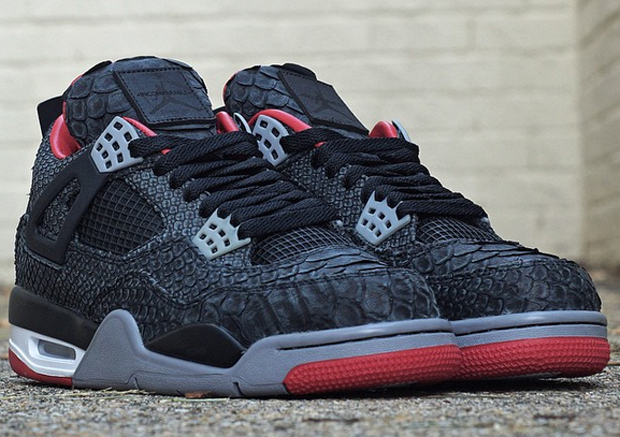 """These Air Jordan IV """"Suede Pythons"""" will be the last python customs you ll  see from JBF """"for the foreseeable future"""" 5a6d202a8"""