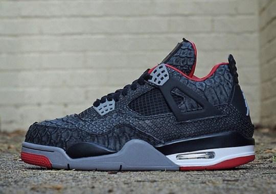"Air Jordan 4 ""Suede Python"" by JBF Customs"