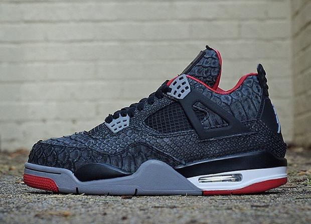 """Air Jordan 4 """"Suede Python"""" by JBF Customs efbc480b3b"""