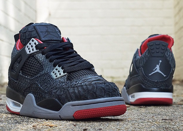 """100% authentic 6e945 44a40 These Air Jordan IV """"Suede Pythons"""" will be the last python customs you ll  see from JBF """"for the foreseeable future"""", so if you ve yet to add a pair  of his ..."""
