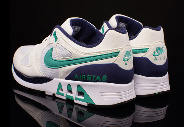 Nike Air Stab White Emerald Midnight Navy