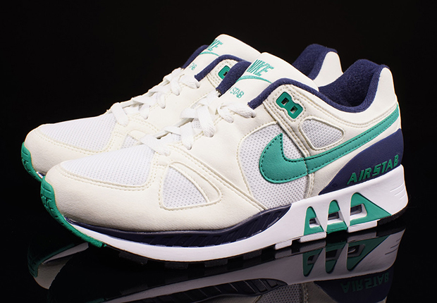 Nike Air Stab – White – Emerald – Midnight Navy