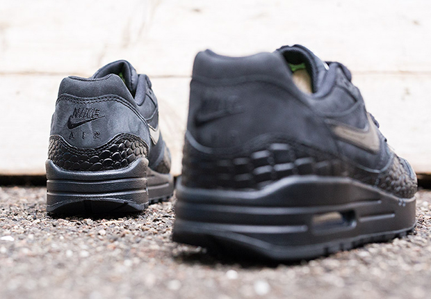 Nike Air Max Para Mujer 1 Premium 'deportivo De Cocodrilo Negro BqP1Shn4u4