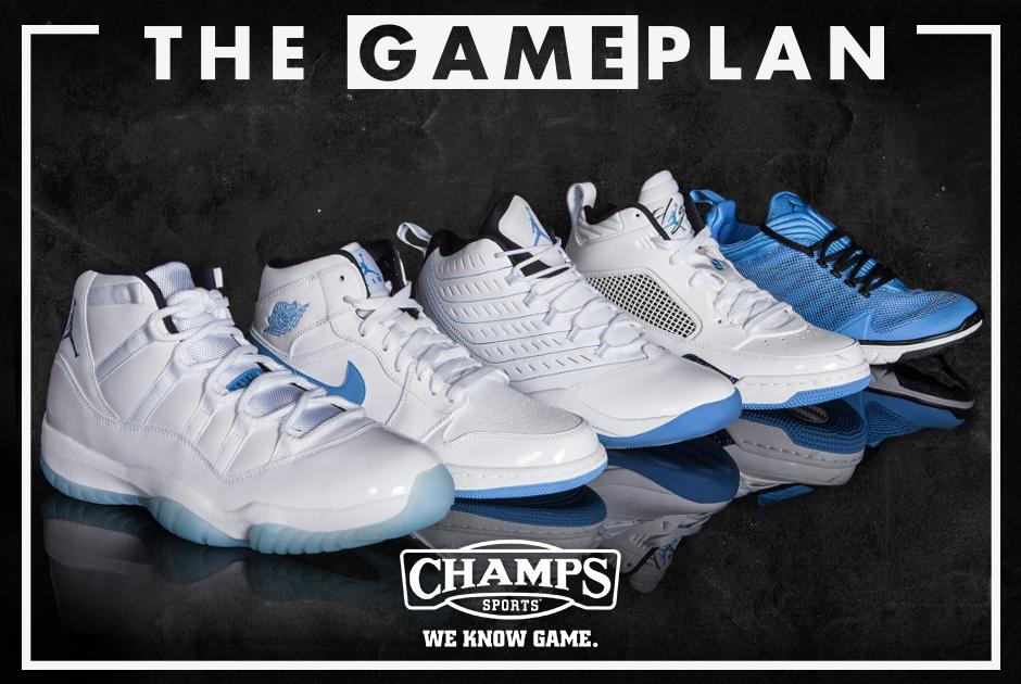 3d87a54d8e9 The Game Plan by Champs Sports: Jordan Legend Blue Collection -  SneakerNews.com