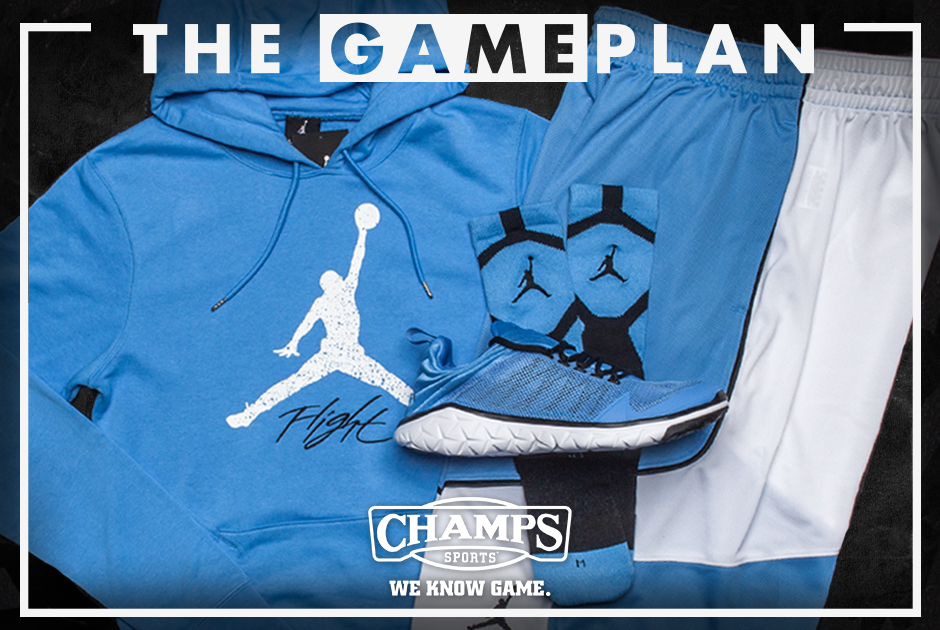 The Game Plan by Champs Sports  Jordan Legend Blue Collection -  SneakerNews.com 3c5e215be