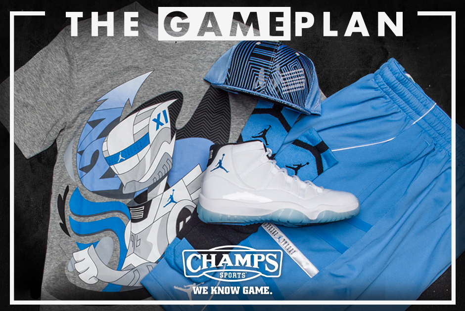 9787d5f7be563 The Game Plan by Champs Sports  Jordan Legend Blue Collection -  SneakerNews.com