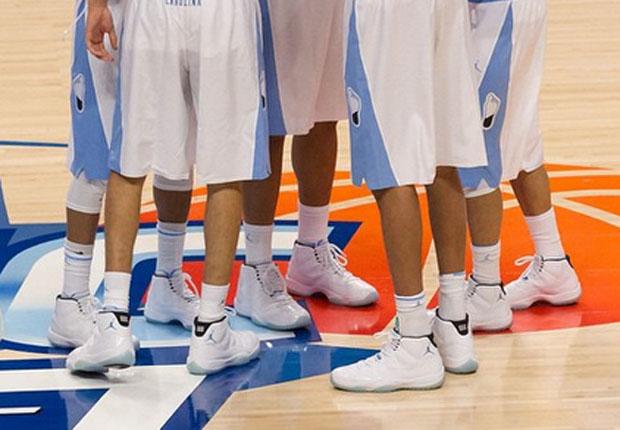Entire UNC Tar Heels Team Wears Legend Blue 11s