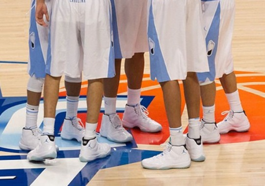 Entire UNC Tar Heels Team Wears Legend Blue 11s