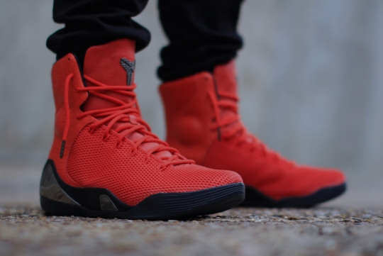 """Nike Kobe 9 EXT KRM """"Challenge Red"""" – On-Feet Images"""