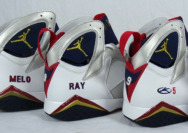 "Four Air Jordan 7 Retro ""Olympic"" PEs for Jordan Brand Athletes"
