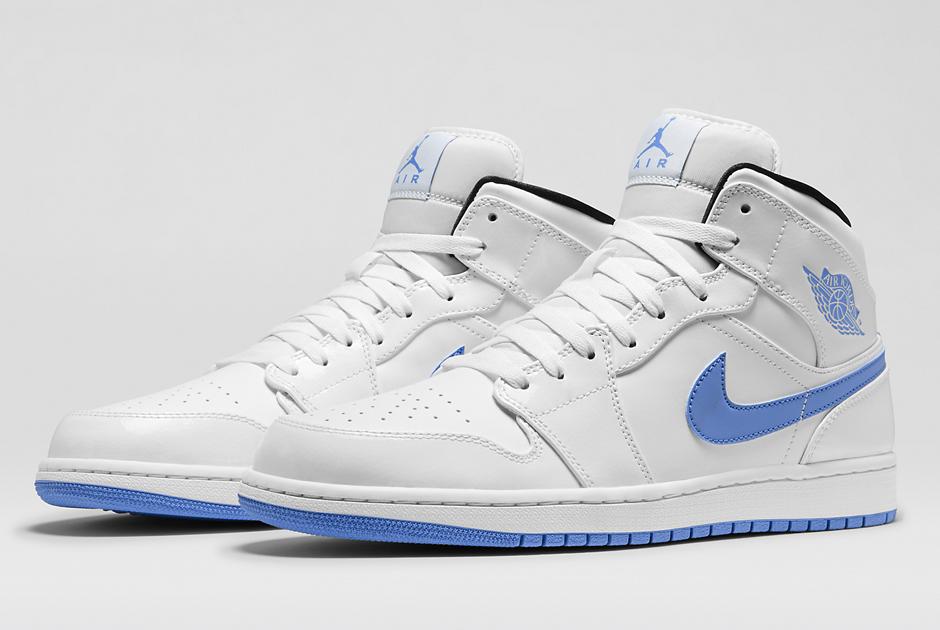 air jordan 1 white blue