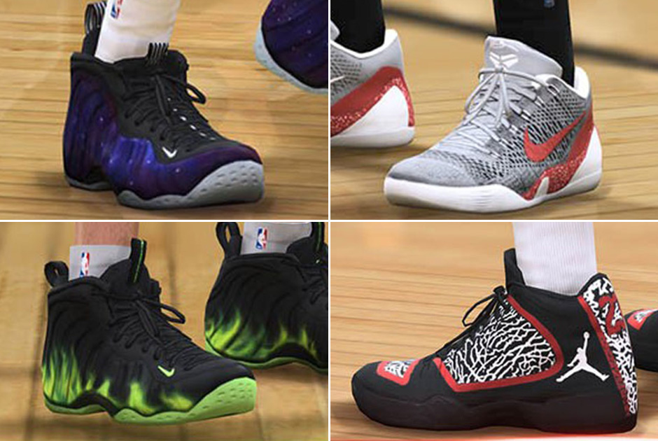 44bcc1a7fbccc ... 2014 0 by Sneaker News · Galaxy Foamposites and More Heat Available for  EA Sports NBA LIVE 15