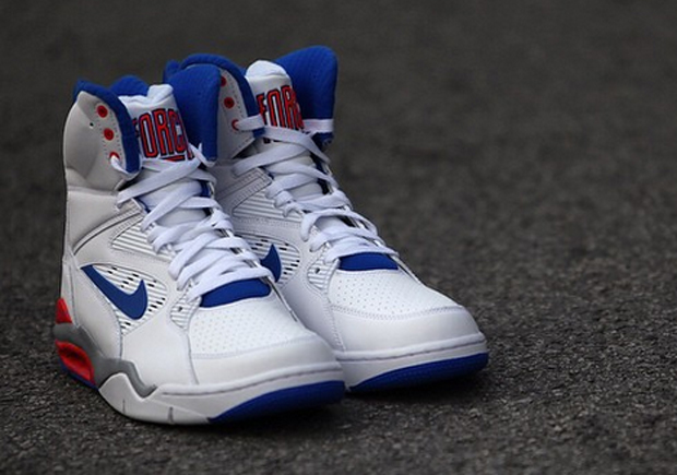 Nike Air Command Force White Lion Blue Bright Crimson free shipping