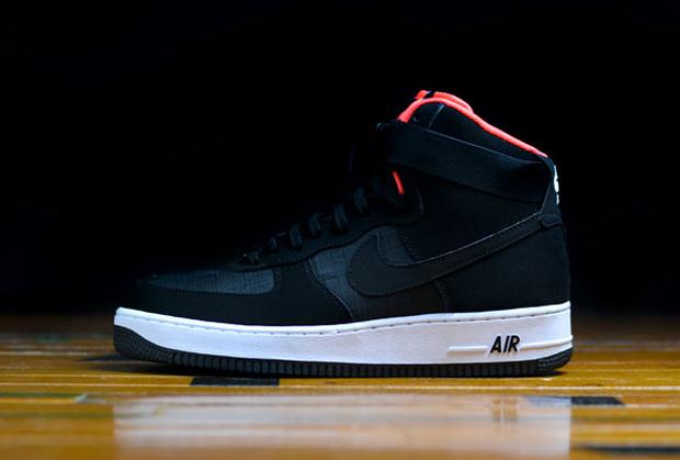 Nike Air Force 1 Pros Haut Noir / Pourpre Clair / Blanc Nike