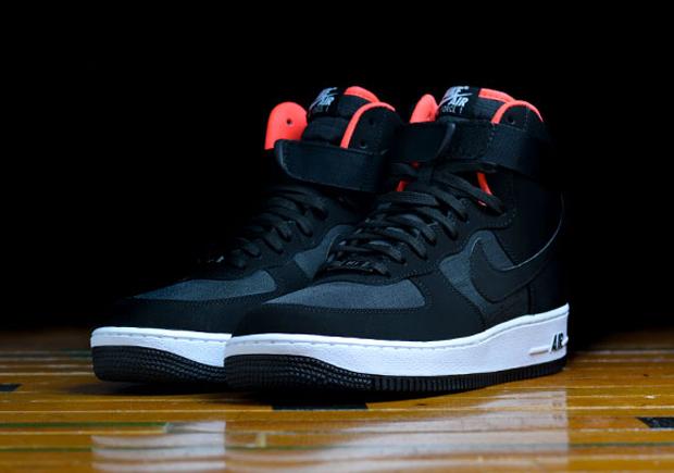 964a956db9c76 Nike Air Force 1 High - Black - Bright Crimson - SneakerNews.com