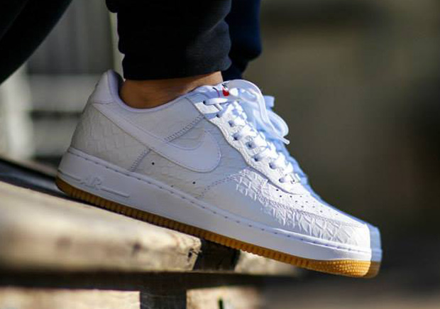Nike Air Force 1 Low White Python Gum