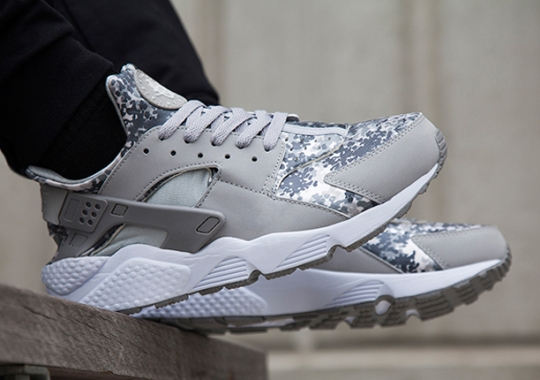 "A Detailed Look at the Nike Air Huarache ""Snow Camo"" Pack"