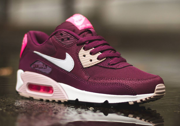 513c7839ab29 Nike WMNS Air Max 90. Color  Villain Red White-Champagne-Pink Plow Style  Code  616730-600