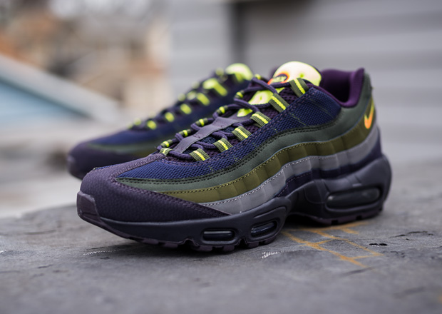 016b5479e5f1 Nike Air Max 95. COLOR  Cave Purple Hyper Crimson Rough Green. STYLE CODE   609048 500. PRICE   160. Source  Packer Shoes