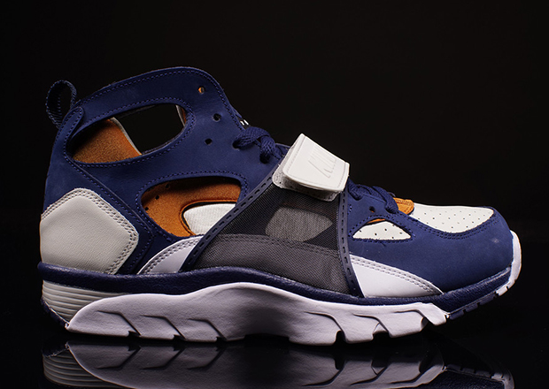 Nike Air Trainer Huarache Color: Light Bone/Midnight Navy-Ginger-White  Style Code: 705427-001. Release Date: December 26th, 2014. Price: $125