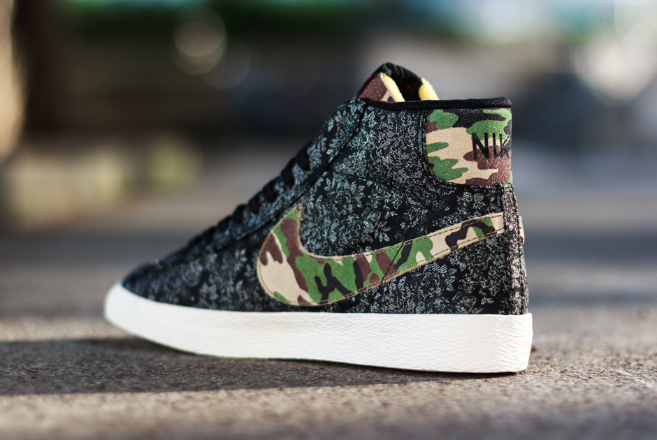 Nike Blazer Mid Prm Vntg Camo Swoosh Grå j878Mta