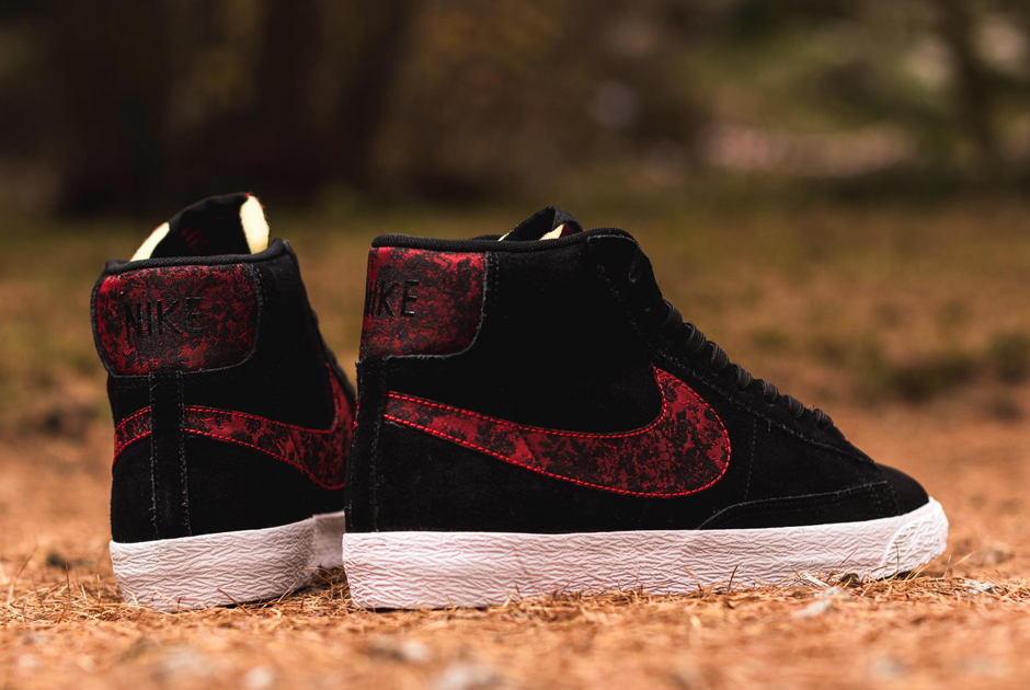 brand new 6b263 b1c59 Nike Blazer Mid Premium Vintage – Black – University Red